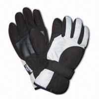 China Sports Ski Gloves, Made of 100% Polyester on sale
