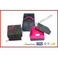 Customized Design Offset Printing Apparel Gift Boxes , Jewelry / Ring Gift Box Manufactures