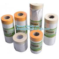 China supplier plastic PE disposable table cloth cover,  Drop film roll with high temperature resistance masking, tape Manufactures