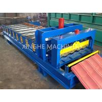 China Automatic Glazed Tile Roll Forming Machine With 2.5 Ton Capacity Decoiler on sale