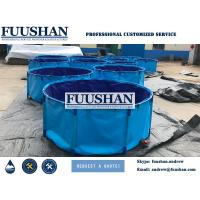 China Fuushan Large Tarpaulin Foldable And Collapsible Ras Fish Tank Big 40000Liter on sale