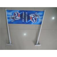 Double Sides Shop Front Flags , End Sign Flags 80cm Length Pole Manufactures