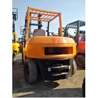 5T Used Diesel Forklift TCM FD50 Triple Mast With ISUZU Engine High Performance Manufactures
