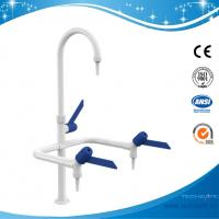 SHA1-1-Three Way/Triple outlet Lab Tap/Faucet,brass,360°swing,White/lever handle optional Manufactures