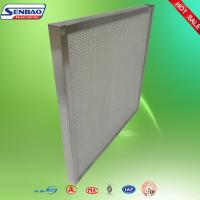 Laboratory Mini Pleated Panel Hepa Air Filters Galvanized Frame Absolute Manufactures