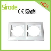 Double Gang Switch Socket Plate White 9206 Style Manufactures