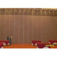 Hotel Sliding Partition Walls , Folding Wall  Sound Proof Door No Floor Track Manufactures
