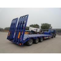 Heavy Duty 3 Axles Low Bed Semi Trailer For Tracked Vehicles Customized Manufactures