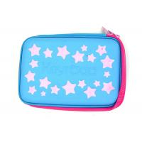 China Multi Functional Custom Pencil Case Hard With EVA Plate Materials , Blue Color on sale
