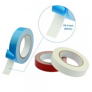 China Double Sided PE Foam Adhesive Tape Waterproof White Polyethylene (PE) Sponge Tape on sale