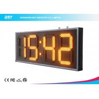 Yellow 10 Led Clock Display Digital Clock Timer For Sport Stadium Manufactures
