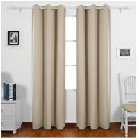 Natural Fabric Door Window Curtains , Modern Style Long Window Curtains Manufactures