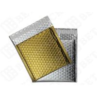 "Silver / Golden Metallic Bubble Envelopes Aluminum Foil Envelopes 12.75""×10.5"" Manufactures"