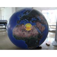 Quality 2m Huge Inflatable Helium Earth Balloons Globe with Total Digital Printing with 540*1080 dpi for Trade show for sale