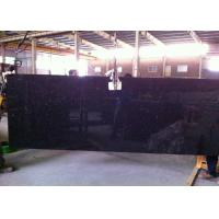Black Galaxy Granite Island Top / Granite Kitchen Tops With Sparkles 2 CM Thick Manufactures