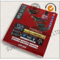 Eco Friendly USB Electronics Packaging Boxes Courragate / Art Paper Hot Stamping Manufactures