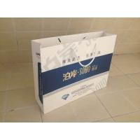 Flowery Kraft Paper Customized Paper Bags With Ribbon Handle Manufactures