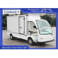 White Electric Delivery Van , 2 Person Golf Cart With MP3 Player Sound System Manufactures
