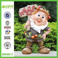 China Welcome Sign Garden Gnome Statues on sale