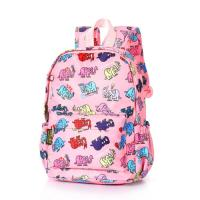 Nylon Kid Cartoon School Book Bag Front Pocket With Storm Flap Zipper Closure Manufactures