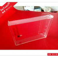 Clear Acrylic Brochure Display Holder / Outdoor Wall - Hung Newpaper Display Stand Manufactures
