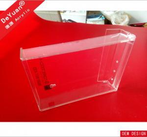 Outdoor Magazine Acrylic Holder Stand Silkscreen / Engraving LOGO Manufactures