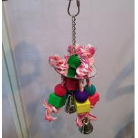 bird kabob toys with acrylic mirror and wooden beads on cotton ropes Manufactures