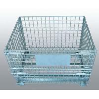 China Heavy Duty Wire Mesh Container Provide Casters Dividers Easy To Operate on sale