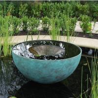 China Chalice Water Outdoor Fountains Stainless Steel Sculpture For Garden Decoration on sale