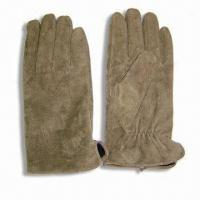 China Men's Pig Split Gloves, Lining with TR on sale