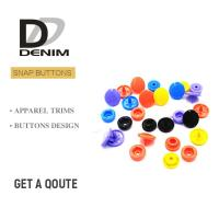 Plastic Snap Fastener Buttons Fashion Colorful Childhood Lead Free Manufactures