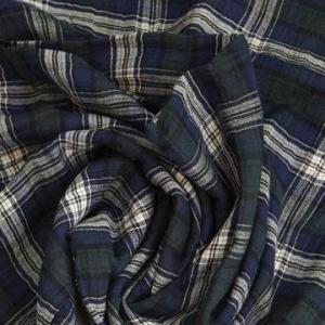 China Cotton Spandex Yarn-dyed Fabric, Herringbone, Checks on sale