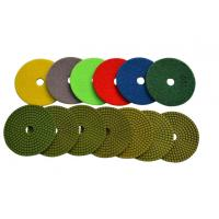 4 Wet Diamond Resin Polishing Pads For Marble / Synthetic Stone High Gloss Polishing Manufactures