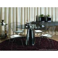 Italian Contemporary Dining Room Chair, Durable Fabric Metal Dinning Chair Manufactures