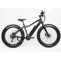 26 Inch Electric Assist Fat Bike Disc Brake 48V 500W 30 Speed Alloy Frame Manufactures