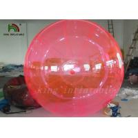Good Quality Red PVC / TPU 2m Inflatable Water Ball YKK Zipper From Japan Manufactures