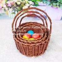 China wicker food basket with handle picnic basket 3 size on sale