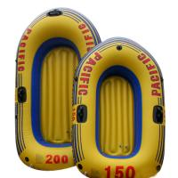 Environmental Friendly PVC Inflatable Boats Orange For 2 Person 92 x 53cm Manufactures