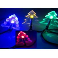 China 4.8m Solar Powered LED String Lights Outdoor Christmas Tree Shaped In Multicolor on sale