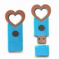 USB Flash Drives with Cartoon Shape Color Printing and Cover Cap, 56.5 x 27.5 x 18mm Size Manufactures