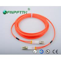 Custom Length fiber optic patch cord lc-lc , multimode fibre patch leads Manufactures