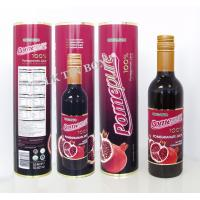 375ml Cmyk  Round Wine Tin  Box Spirit bottle Packaging For Holiday Manufactures