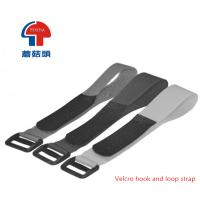 China Velcro hook and loop strap with buckle on sale