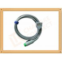 Fukuda 12 Pin ECG Patient Cable 3 Leads Gray Color CK-03-330 PN , Fast Response Manufactures