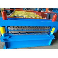Roofing Sheet Double Layer Roll Forming Machine , Profile Forming Machine Low Noise Manufactures