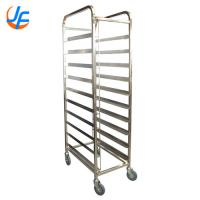 Quality 15X2 Trays Commercial Stainless Steel Trolley Rack / Commercial Baking Tray Rack for sale