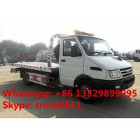 China 2019s IVECO 4*2 LHD 3tons wrecker tow truck for sale, factory sale best price IVECO brand diesel  flatbed towing truck on sale