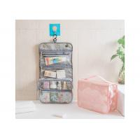Fold Up Bathroom Toiletry Bag , Clear Hanging Bags With Larger Capacity Manufactures
