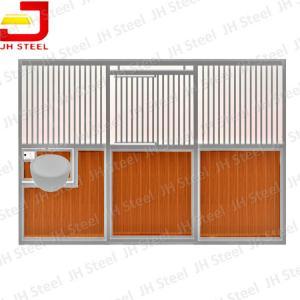 Hot Dip Galvanized European Horse Stalls , Portable Horse Box Stalls Large Size Manufactures