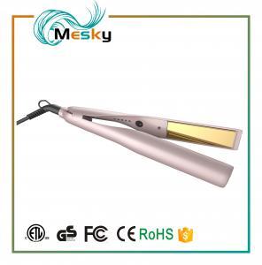 China TYME Professional Gold Titanium Hair Straightener Flat Iron with 5 Heat Setting on sale